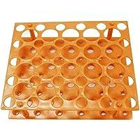 UKCOCO Soporte de tubo de centrífuga desmontable Soporte de tubo de centrífuga Accesorio de experimento científico de laboratorio 15 ml/50 ml (naranja)