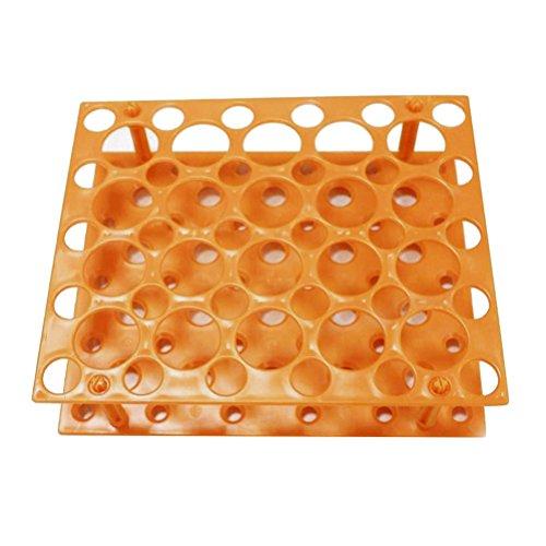 UKCOCO Zerlegbare Zentrifugalrohrhalterung, Halterung für Zentrifugenröhrchen, Zubehör für wissenschaftliche Laborversuche, 15 ml / 50 ml (orange)