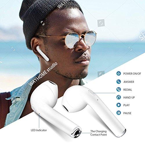 Auriculares Bluetooth i7 Auriculares inalámbricos con Caja de Carga Mini Auriculares ergonómicos Earbud con Auriculares con micrófono
