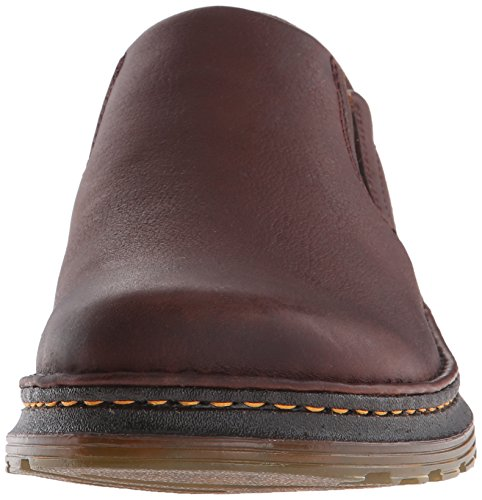 Dr.Martens Mens Boyle Grizzly Leather Shoes Dark Brown