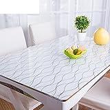 XKQWAN PVC Einweg Wasserdicht ?l-Beweis Weichglas Hitzebest?ndige tischdecke Alter Coffee Table pad tischdecke-R 85x140cm(33x55inch)