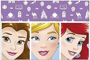 PROCOS 90869 - Mantel de plástico, diseño de Princesas Disney, Color Rosa