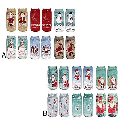 6-Paires-Chaussettes-Hommes-Chaussettes-FemmeVococal-Chaussettes-3D-Modles-de-Nol-Noel-Santa-Chaussettes-Set-pour-Homme-Femme-Enfant