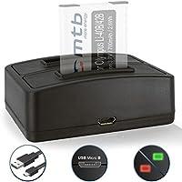 Caricabatteria doppio (USB) per Olympus Li-40B/42B, FE-.., mju.., µ.., TG..,