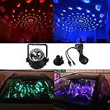 K-Bright LED RGB Kristall Magic Ball,Mini Party Klub Effect Licht,3W Disco DJ Stage Lighting,Geeignet für Weihnachtsparty Ballsaal, KTV, Bar, Club und Dekoration Sprachaktivierte