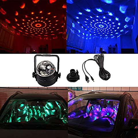 K-Bright LED RGB Kristall Magic Ball,Mini Party Klub Effect Licht,3W Disco DJ Stage Lighting,Geeignet für Weihnachtsparty Ballsaal, KTV, Bar, Club und Dekoration