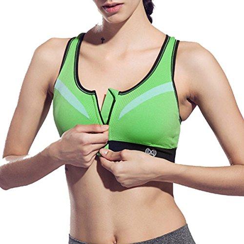 Yoga Sport Reggiseno Sportivo Antiurto In Esecuzione Fitness Underwear Green