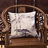 SUN ll-respaldo Paisaje almohadones sofá almohada algodón más espesa almohada ronda silla de espalda espalda respaldo almohada 45 * 45 cm (chaqueta + interior núcleo) ( Color : B )