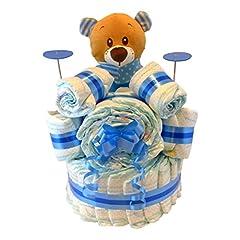 Idea Regalo - Torta di pannolini a forma di tamburo musicale per bambino