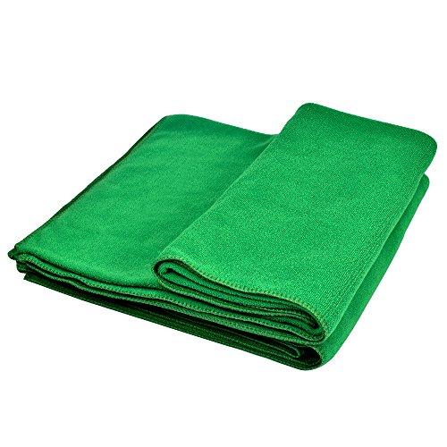 Yazer Sport asciugamano da viaggio in microfibra asciugamani per la spiaggia, palestra, campeggio, yoga e pilates-fast Dry, Super assorbente, verde