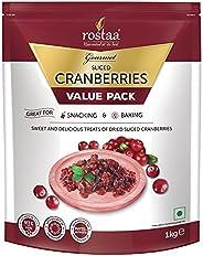 Rostaa Value Pack, Cranberry Slice, 1kg (Gluten Free, Non-GMO & Ve
