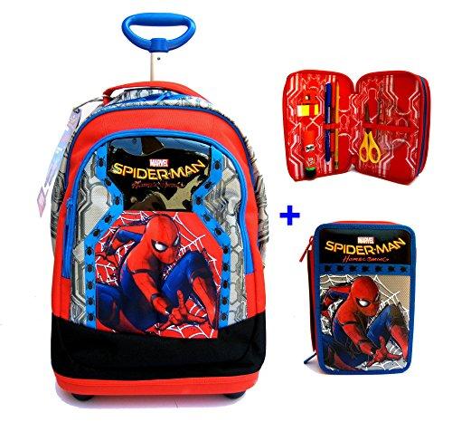 0e589c54e0 TROLLEY BIG Spiderman Homecoming Seven 2017 - PATTINA SFOGLIABILE - ZAINO  TROLLEY SCUOLA + ASTUCCIO 3