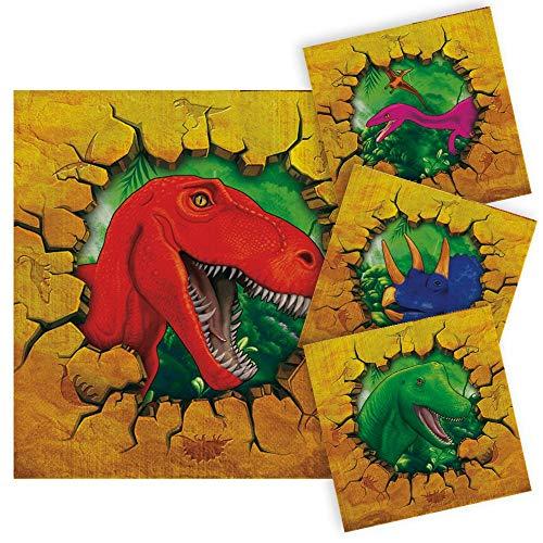 Folat NEU Servietten Dino Party, ca. 25x25 cm, 16 Stück (Dinosaurier Party Servietten)
