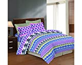 Bombay Dyeing Cealina Printed Double Bed Sheet Set (DSN-07) (Purple)