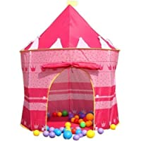 Puregadgets© Childrens Girls Fairy Princess Pink Pop Up Castle Play Tent Playhouse - Suitable for indoor and outdoor use