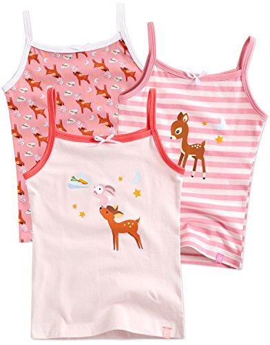 Vaenait baby 86-122 Maedchen Kinder Unterhemd 3-Packung Top Set Cami Dream Deer S - Unterhemd Baby