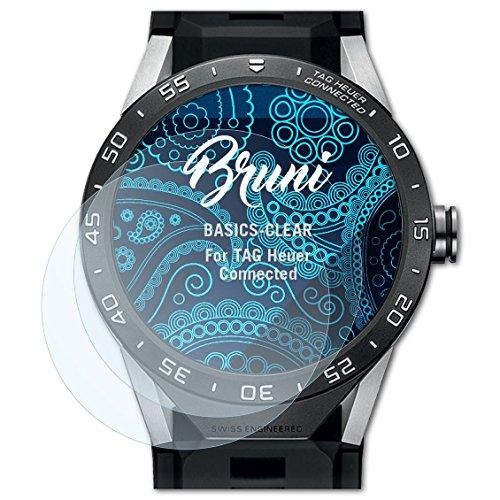 Bruni Schutzfolie für Tag Heuer Connected Folie, glasklare Bildschirmschutzfolie (2X)
