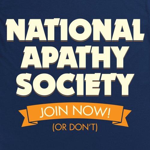 National Apathy Society T-Shirt, Herren Dunkelblau