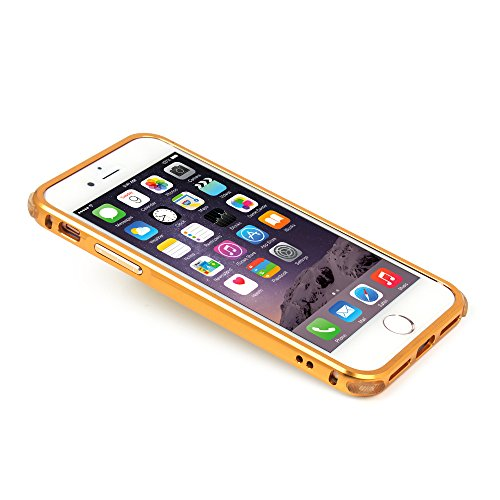 UKDANDANWEI Apple iPhone 7 Hülle,Gebürstet Metall Zurück Case Cover Ultra Dünn Schutzhülle mit PC Hard Bumper Schutz [Kratzfeste Stoßdämpfende] Aluminium Bumper Handy Tasche Schale für Apple iPhone 7  Roségold