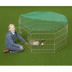 Slim Hot großer verzinkter Auslaufgehege Auslaufstall für Hasen, Kaninchen, Enten, Hühner inkl. Sich