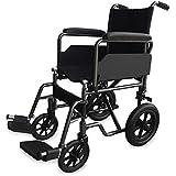 Silla de ruedas de acero, plegable | Con reposapiés y reposabrazos extraíbles | Ancho de asiento: 40 cm
