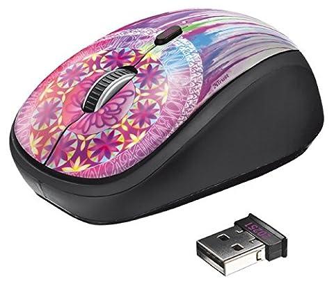 Trust Yvi optische Maus schnurlos (1600 DPI, 4 Tasten, mikro USB Empfänger) dream catcher
