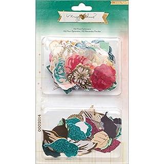 American Crafts Maggie Holmes Open Book Cardstock Die-Cuts 10-Floral Ephemera Flowers and Leaves