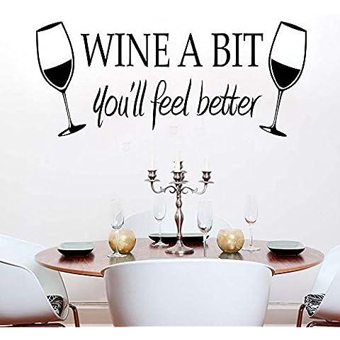EQLEF® DIY smontabile in camera per la casa del vino un po 'di Coppa del Wall Stickers della decalcomania di arte del vinile murale