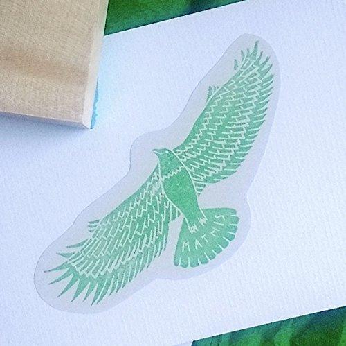 Personalisierter Stempel mit Adler -Motive - Geschenkidee für Geburt, Taufe, Hochzeit, Weihnachten, Geburtstag - Handmade