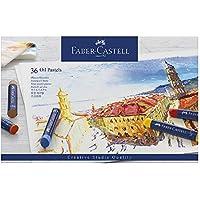 Faber-Castell 127036 - Estuche de cartón con 36 pasteles de aceite, multicolor
