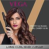 VEGA Long Curl Hair Curler-22 mm (VHCH-04), Black
