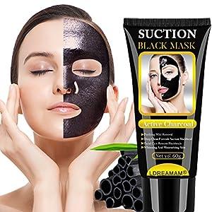 Puntos Negros Mascarilla, Mascarilla Exfoliante Facial, Black Mask-Mascara Negra De Purificante Espinillas y Piel Muerta…