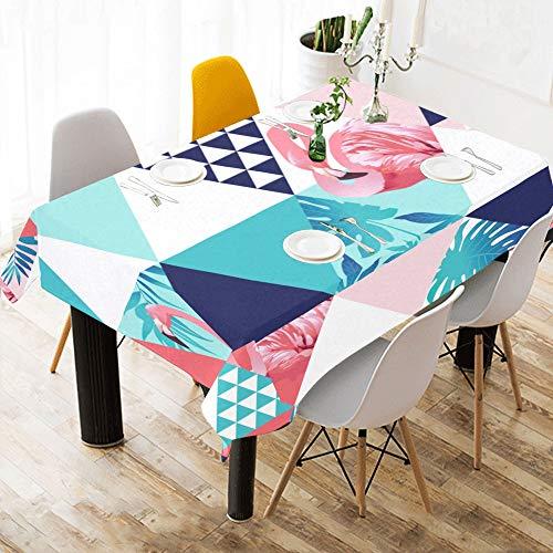 Enhusk tovaglia per mosaico mosaic summer flamingo cotton print tovaglia per lenzuola in tessuto tovaglia per cucina dining room decor 60x84 pollice tovaglia per agriturismo