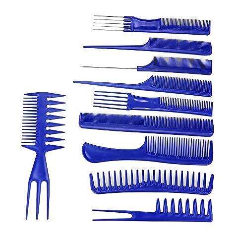 Kamm Sets, May 10pcs Schwarze Haare Styling Frisur Kunststoff Friseur BüRsten KäMme Sets FüR Professionelle Stylist Friseur (Professionelle Styling Bürste)
