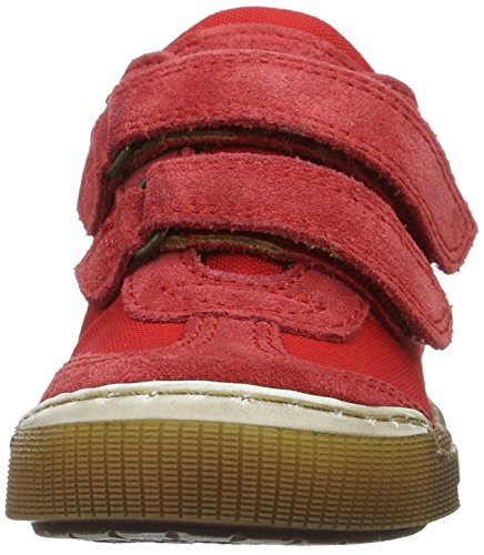 Bisgaard Unisex-Kinder Klettschuhe Low-Top Rot (151 True red)