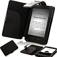 ForeFront Cases Custodia in similpelle con LUCE Nero - per Nuovo Amazon Kindle 4 Schermo da 6