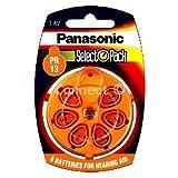 6 Stück Batterie Panasonic Typ PR 13 Hörgerätebatterien (für Hörgerät: Phonak)