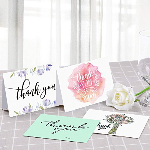 latit greeting cards packset of 20 thank you cards envelopesassorted blank cards included 4 designs occasions for value - Discount Greeting Cards