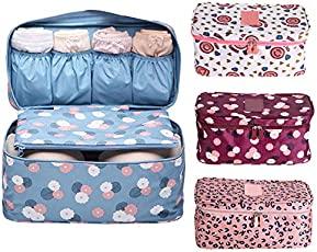 Multi Functional Travel Organizer by House of Quirk Travel Accessories Storage Bags Compression Pouches Clothing Sorting Inner Wear Pouch (Colour as per Availability)