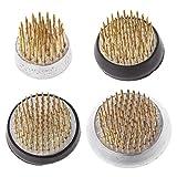 Girasool Rond Ikebana Kenzan Fleur Grenouille avec Joint en Caoutchouc Art Fixe Organiser Les Outils, 1#:2.3x2cm/0.9x0.78