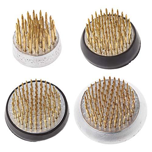 girasool rotonda ikebana kenzan flower frog con guarnizione in gomma art fisso organizzare strumenti, 4#: 4.6x2cm/1.81x0.78