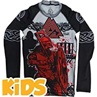 Hardcore Training Kids Rashguard Viking 2.0-14 Years MMA BJJ Fitness Camiseta de compresión Niño