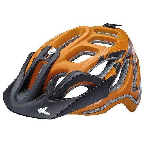 KED Fahrradhelm Trailon, Größe M, Kopfumfang 52-58 cm, Orange Black Matt, Extrem gut belüfteter All-Mountain Helm in robuster maxSHELL®- Technologie - Made in Germany