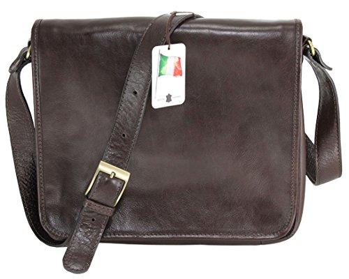 Chicca Tutto Moda Organisateur, Sac MAC et PC au travail, 32.5x28x8cm de CTM hommes, 100% cuir véritable Fabriqué en Italie