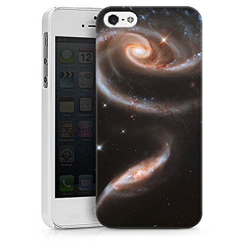 Apple iPhone X Silikon Hülle Case Schutzhülle Galaxy Space Galaxie Hard Case weiß
