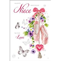 Niece Ballet Shoes Birthday Card