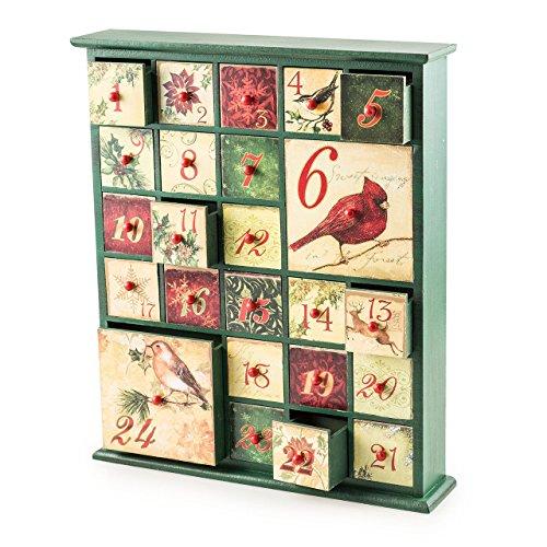 LD Weihnachten Deko Holz Adventskalender Birds ca 42cm (Lieferzeit ist 3-7 Tagen)