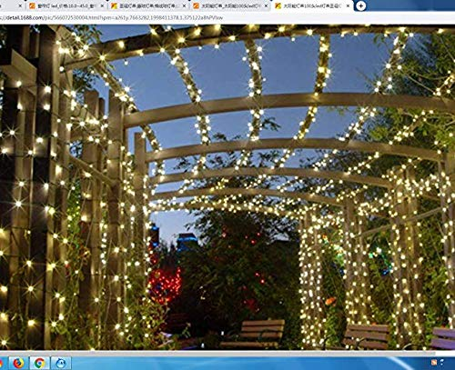 FFFFFFFFF Solar Lichterkette 100 Kopf led String Weihnachtsbeleuchtung Outdoor Garten Garten Lichter Weihnachten Hochzeit Weihnachtsbeleuchtung 5m -
