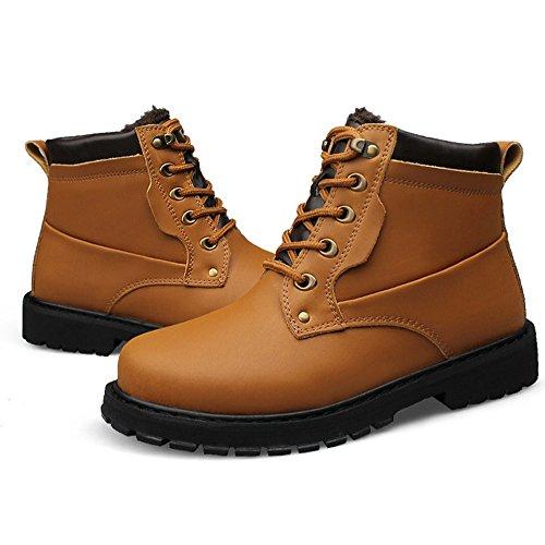 Stiefel Stiefel Leder Arbeit Echtes Winter Männer Winter Sicherheits Leder Männlichen AARDIMI Arbeit Schuhe Mode Gelb Stiefel Schuhe Sicherheits Oxgaw