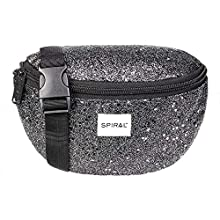 Spiral Black Stardust Bum Bag Sac Banane Sport, 24 cm, 3 liters, Noir (Black)